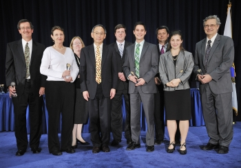 The Daily Energy Report Team with Secretary Steven Chu as they receive a Secretary of Energy Achievement Award. | Photo courtesy of the Energy Department