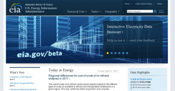"""Check out <a href=""""http://www.eia.gov/beta/enerdat/"""">EIA's beta test site</a> and leave your feedback."""