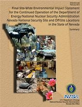DOE Issues Final Site-Wide Environmental Impact Statement for the Nevada National Security Site