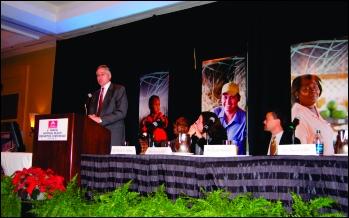 Speaker Dr. Daniel Rahn at the Health Disparaties Conference.