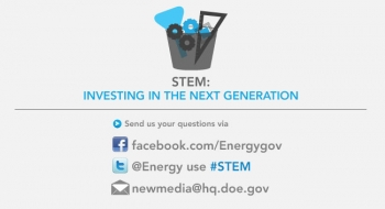 Join Michelle Fox on Twitter this Thursday at 4:00pm for a Tweet-up about STEM investments in education and the workforce.