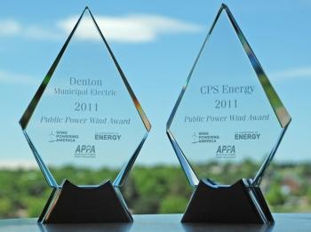 2011 Public Power Award trophies   Photo Courtesy of the American Public Power Association