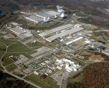 The East Tennessee Technology Park before demolition and cleanup of its gaseous diffusion plants.