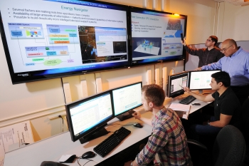 Energy Internet, the Southeast regional winner of the Department of Energy's National Clean Energy Business Plan Competition, demonstrates its platform. | Courtesy of  Georgia Institute of Technology