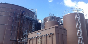 Anaerobic digesters reduce pollution and generate electricity in Milwaukee.   Image from Forest County Potawatomi Community