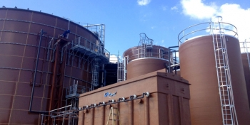 A 2-megawatt anaerobic digester and biogas generation facility converts food waste into electricity to power 1,500 homes. Photo from Forest County Potawatomi Community.