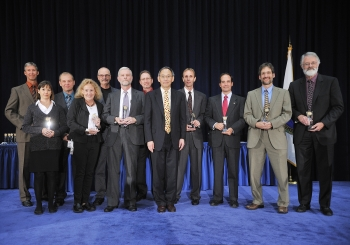 The Fugitive Emissions Working Group with Secretary Steven Chu as they receive a Secretary of Energy Achievement Award. | Photo courtesy of the Energy Department