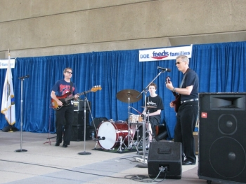 "Deputy Secretary Daniel Poneman and his band ""Yellow Cake"" at last year's Feds Feed Families event. 