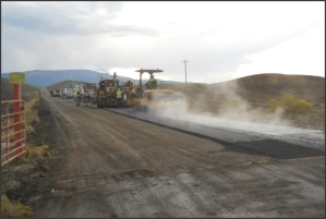 A road is improved at the Grand Junction, Colorado, Disposal Site.