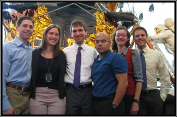 The Office of Energy Efficiency and Renewable Energy offers a variety of internships, fellowships, and scholarships in addition to the postdoctoral research awards. Current SunShot fellows pose in front of the Apollo Lunar Module at the National Air and Space Museum. | Energy Department file photo.