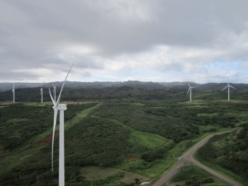 First Wind's Kahuku Wind Project in Oahu, Hawaii, for example, has been operating since March of last year, providing clean, renewable power to 6,000 homes.  The economic benefits of the project are substantial -- with wind turbines assembled in Iowa, an advanced energy storage supplied by a Texas company, and a supply chain that extended to more than 100 businesses in 20 states.   Image courtesy of First Wind