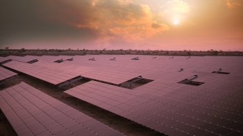 Fonroche site in Rajasthan, India using First Solar modules. | Photo courtesy of First Solar