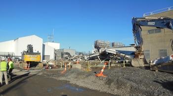 Building G2 after demolition.