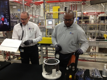 The General Motors Baltimore Operations facility at White Marsh is producing electric motors for the Chevrolet Spark EV and is the first time a domestic automaker is building electric motors for an electric vehicle in the United States.   Energy Department photo