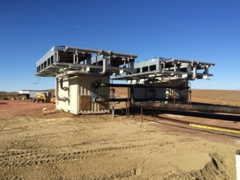 The geothermal facility in the Williston Basin in North Dakota. | Photo by Kirby Baier of Continental Resources