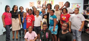 Dot Harris visited the after school program at the Greater Atlanta chapter of Girls Inc. on May 18.