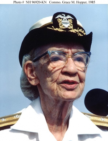 Grace Hopper, computer scientist and inventor of the first compiler, is the second subject of our Women's History Month #ThrowbackThursday. | Photo courtesy of the White House.