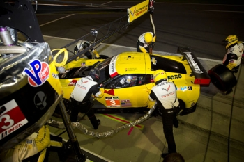 Chevrolet Corvette was the first team in the GT category to adopt E85 ethanol. Corvette won three manufacturers' championships and three team championships running on cellulosic ethanol. |Photo credit: Corvette Racing.