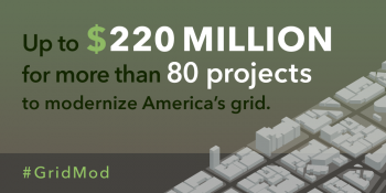 "Grid Modernization Initiative releases multi-year plan and awards funding for groundbreaking DOE-wide Grid Modernization Laboratory Consortium. | Graphic by <a href=""/node/1332956"">Carly Wilkins</a>, Energy Department"