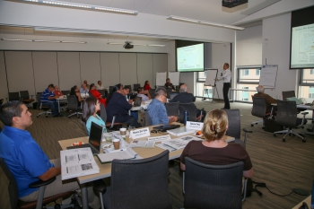 The Office of Indian Energy's Community- and Facility-Scale Tribal Renewable Energy Project Development and Finance workshop was held September 18-20 at the National Renewable Energy Laboratory in Golden, Colorado. Photo by John De La Rosa, NREL