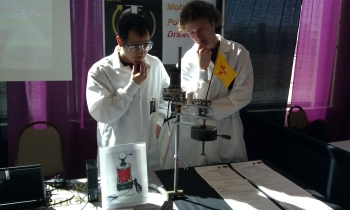 Contestants from the University of Idaho think it through at the 2012 WERC IEDC. The annual competition includes college students from universities worldwide, who showcase their engineering design solutions. Their solutions are judged by industry and academic professionals.
