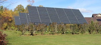 Solar panels used to provide power to AHA's Sunrise Acres Complex. Photo from Akwesasne Housing Authority