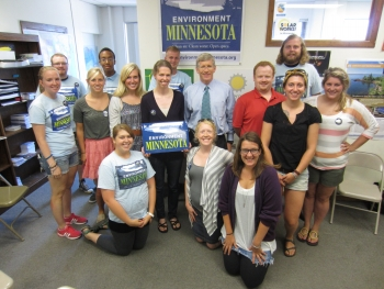 Earlier this week Deputy Secretary Poneman also visited Environment Minnesota, where he spoke with members about their efforts to educate their community on the importance of clean energy tax credits.   Energy Department photo.