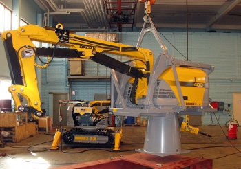 Shown here is a new robotic arm EM is seeking to acquire for AMWTP.