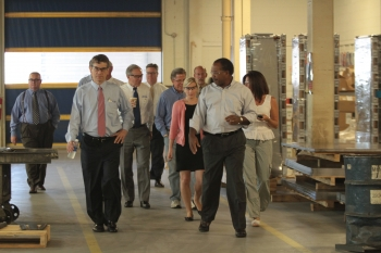 Under Secretary Sandalow tours Keystone Electrical Manufacturing Company with employees at the plant. | Photo courtesy of Keystone Manufacturing Co.