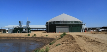 Dairy digester and engine genset at New Hope dairy farm. | Photo courtesy of Sacramento Municipal Utility District