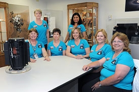 """The women who work at Idaho National Laboratory's Space Nuclear Systems and Technologies Laboratory assembles radioisotope power systems, or """"space batteries,"""" which provide nuclear energy to power NASA spacecraft and rovers that venture into deep space to perform scientific missions."""