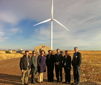 The Office of Indian Energy and the Denali Commission tour the National Wind Technology Center in Colorado. | Photo courtesy of NREL.