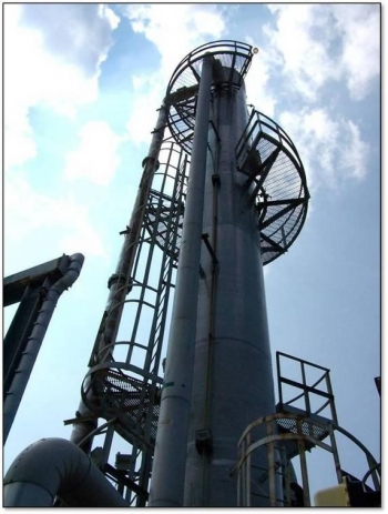 The M1 Air Stripper system at Savannah River Site, pictured here, was modified in 2007 to remove mercury.