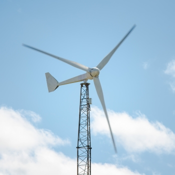 Pictured above is the Excel 15 wind turbine. This innovative turbine is anticipated to be 40% more efficient than Bergey's 10 kW turbine, produce 85% more energy, and be sold at a similar price point. Photo Courtesy | Bergey Windpower