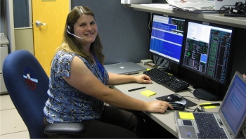 Dr. Jana Thayer works on the Fermi gamma-ray space telescope.