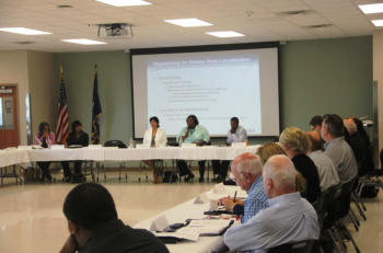 On July 9, 2014, nearly 60 participants gathered at SOWELA Technical Community College to share information and learn about energy investments that will bring billions of dollars and thousands of in-demand energy jobs to the region.