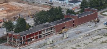 Building K-731 as demolition began.
