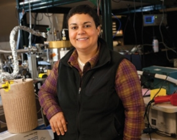 Kawtar Hafidi is an experimental physicist at Argonne National Laboratory, studying how fundamental particles, namely quarks and gluons, form nucleons and nuclei.Photo from Crain's Chicago Business.