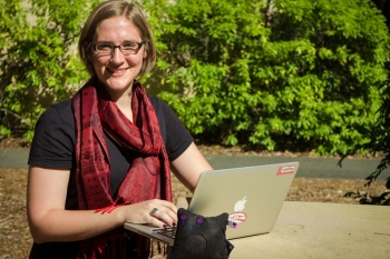 Kristi Schneck, a graduate student at the Stanford Department of Physics, SLAC National Accelerator Laboratory on the SuperCDMS Collaboration, grew up in Fergus Falls, a small town in western Minnesota.