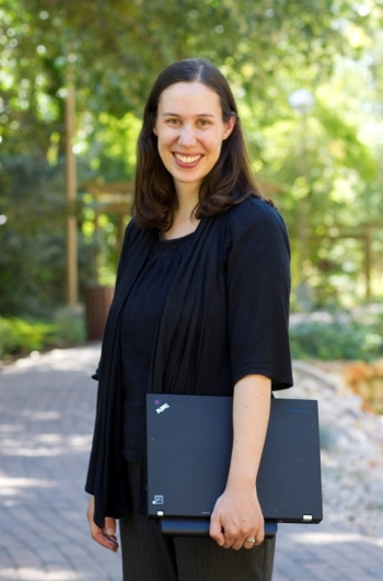 Kristine Montheith is a computer scientist at Laurence Livermore National Laboratory. Photo from BYU News.