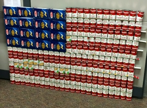 The Lexington office's Feds Feed Families display.