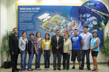 Native American student interns at LLNL meet with Navajo Tribal President Ben Shelly this summer.