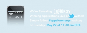 TODAY MAY 22ND: Live Tweeting the Apps for Energy Winners Announcement!