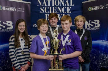 3rd Place Lone Oak Team 1 (left to right, front row) - Mason Wooten and Ben Schofield; Back row - Shelby Puryear, Michael Delaney, and Ben Higdon