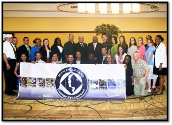 The 2012 class and mentors of the Mickey Leland Energy Fellowship Program.