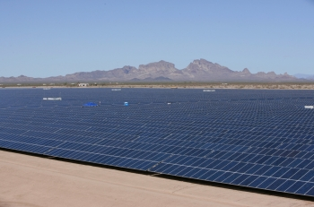LPO issued a $337 million loan guarantee to Mesquite Solar, a 170-MW photovoltaic solar project located in Maricopa County, Arizona.   Photo courtesy of Sempra.