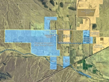 Mesquite solar energy project area map. | Photo Courtesy of Sempra Generation