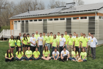 Missouri University of Science and Technology's Chameleon House will join the school's past competition houses in Missouri S&T's very own Solar Village, which serves as student housing and university research facilities. | Photo courtesy of the Energy Department.