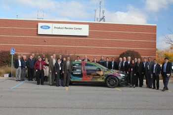 A team of vehicles experts was present during the crash test for Ford and Magna's Multimaterial Lightweight Vehicle.