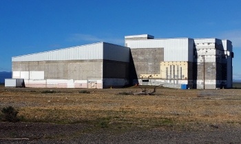 The 105N/109N Reactor was called a dual purpose reactor in that it not only produced plutonium for America's defense program, but it also generated electricity. It was the only reactor of its kind in the country. The reactor block is on the right and the steam generator is on the left.